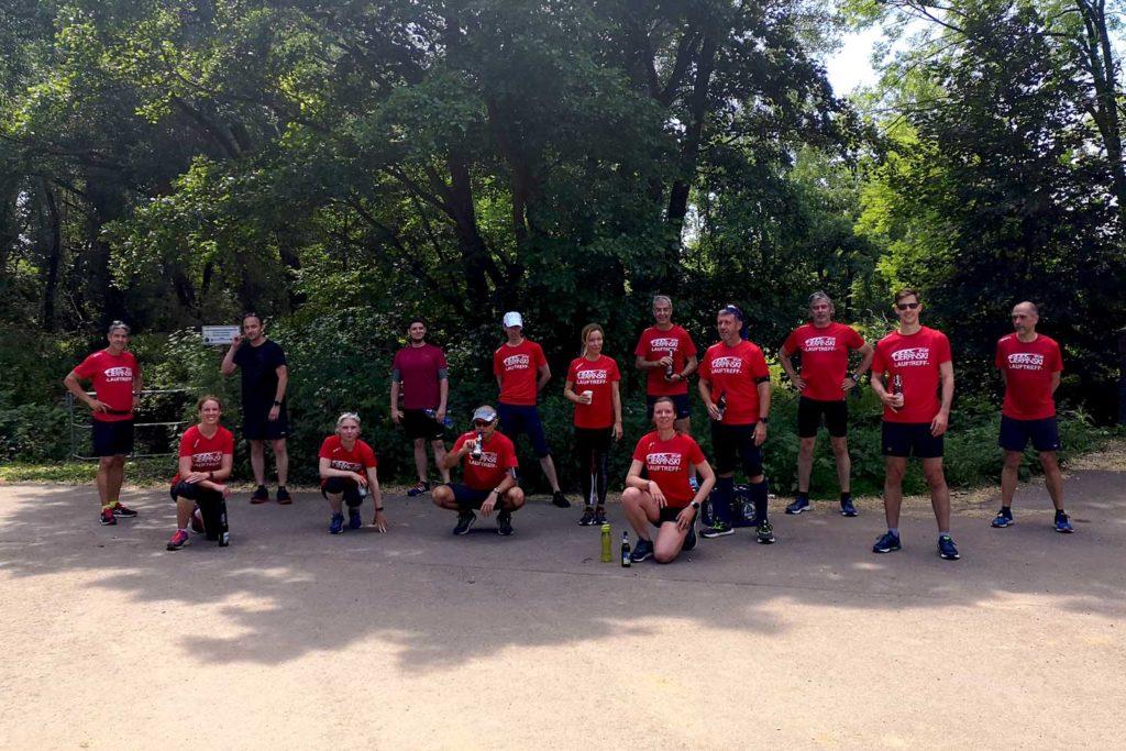 Unsere Cierpinski Sport Laufgruppe bei der Brückenlauf-Challenge