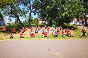 Läufer des PSV Bernburg und Läufer der Cierpinski Sport Laufgruppe