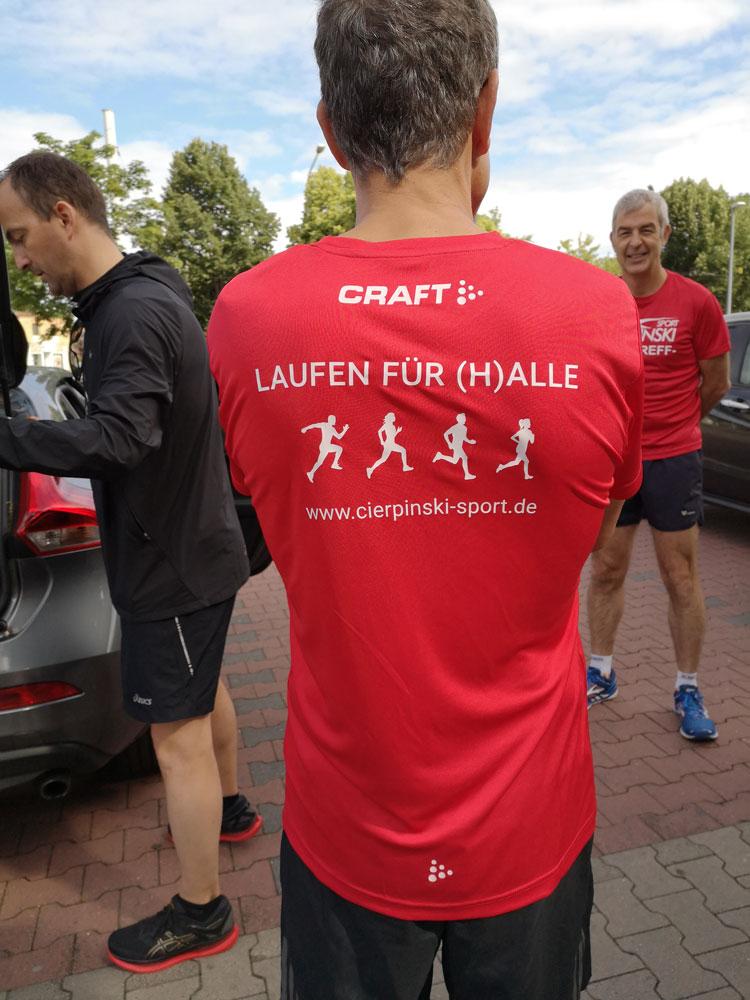 Teamshirts der Cierpinski Sport Laufgruppe