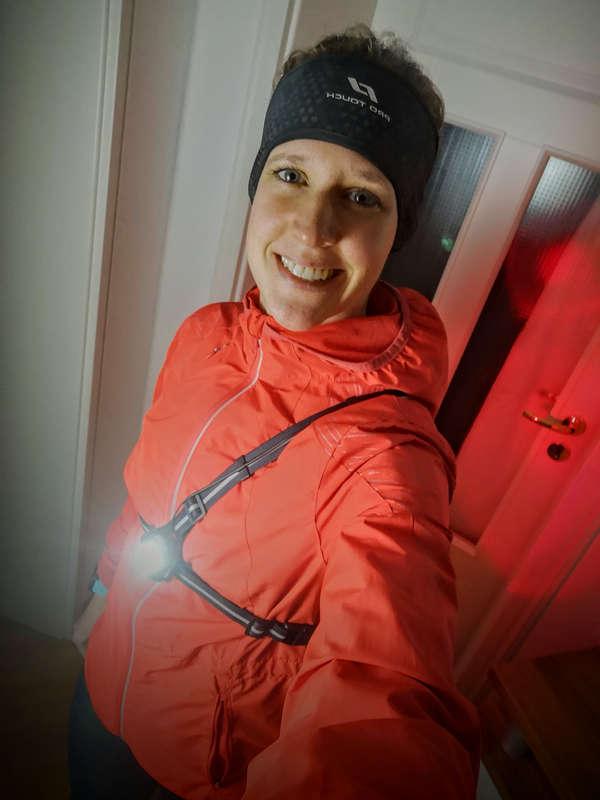 Brustlampe mit Vorder- und Rücklicht zum Laufen