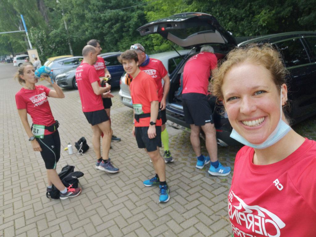 Vorbereitungen unmittelbar vor dem 4. Bernburger Halbmarathon