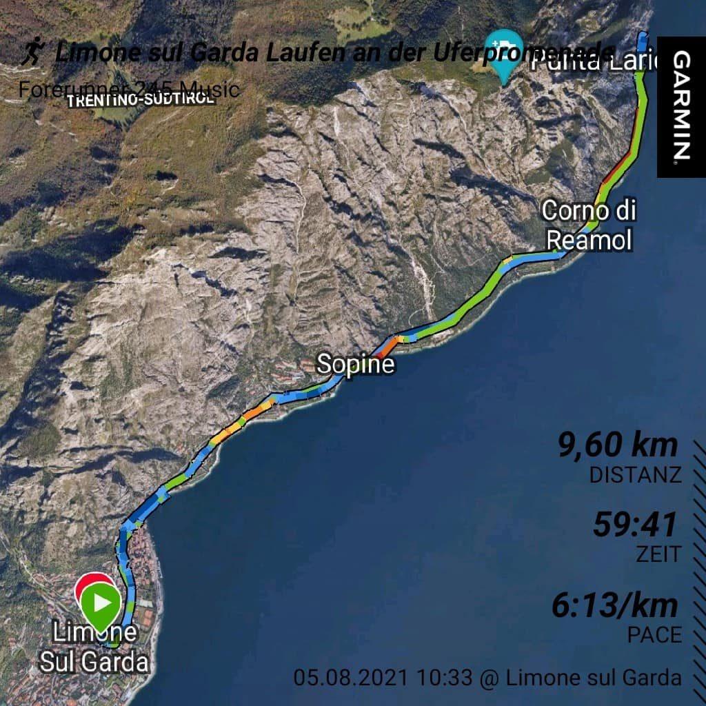 Laufstrecke auf der Uferpromenade am Gardasee